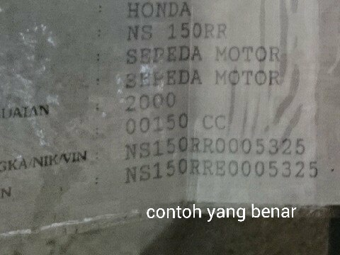 Contoh Faktur Mobil Suzuki Surat Vv